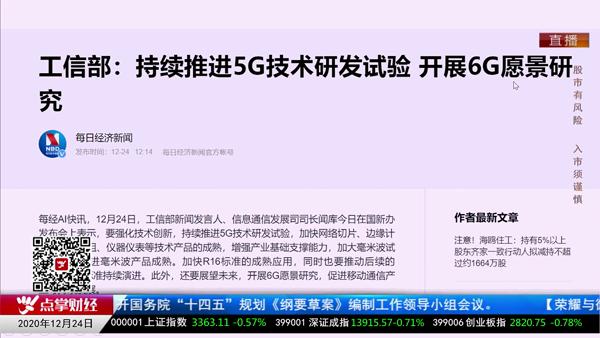 韩愈:解读6G相关机会
